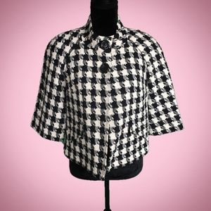 East 5th Black & White Houndstooth Dress Jacket